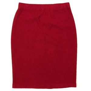 St. John classic knit red pencil skirt